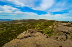 Stunning Back Tor, overlooking the beautiful Upper Derwent Valley, Peak District National Park. The stunning Back Tor, overlooking the beautiful Upper Derwent Royalty Free Stock Photo
