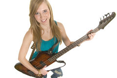 Stunning Bass Player Royalty Free Stock Images