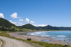 Beautiful bay on East Cape Road in New Zealand Stock Image