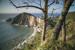 Stunning beach in asturias, spain Stock Image