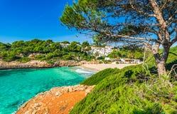 Stunning beach of Cala Anguila on Majorca, Spain. Royalty Free Stock Images