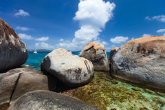 Stunning beach at Caribbean Royalty Free Stock Image