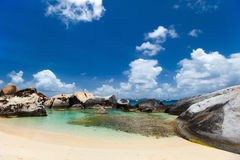 Stunning beach at Caribbean Stock Photography