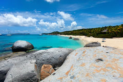 Stunning beach at Caribbean Royalty Free Stock Images