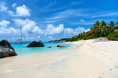 Stunning beach at Caribbean Royalty Free Stock Photography