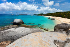 Stunning beach at Caribbean Stock Image