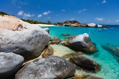 Stunning beach at Caribbean Royalty Free Stock Photos