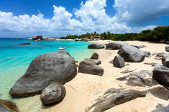 Stunning beach at Caribbean Royalty Free Stock Photo