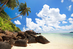 Stunning beach in Seychelles Stock Photo