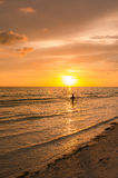Stunning beach sunset Royalty Free Stock Images