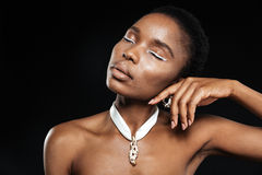 Stunning beautiful young african american black woman posing Stock Image
