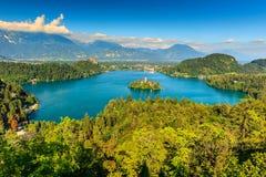 Stunning Bled Lake panorama,Slovenia,Europe Stock Images