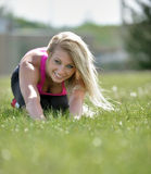 Stunning blonde woman - fitness model Royalty Free Stock Photo