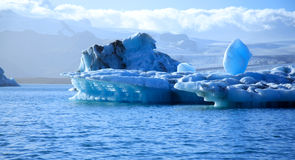 Stunning blue icebergs Stock Photography