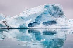 Stunning blue icebergs floating on the lake, Iceland Royalty Free Stock Photo