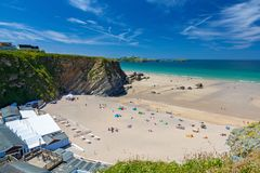 Lusty Glaze Beach Newquay Cornwall England Royalty Free Stock Image