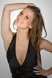 Stunning Brown Haired Teen Smiling royalty free stock photos