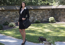 Stunning brunette business woman outside Royalty Free Stock Image