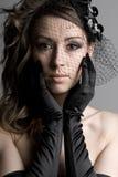 Stunning Brunette Model in Veil Royalty Free Stock Photos