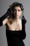 Stunning Brunette Model in Veil Stock Image