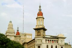 Stunning Buildings on the Avenida de Mayo Avenue in Buenos Aires of Argentina