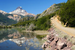 Stunning Carretera Austral. Cerro Castillo seen from Carretera Austral southern Chile Royalty Free Stock Photo