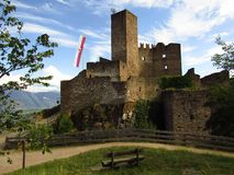 Stunning castle on a hilltop Stock Photos