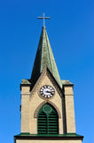 Stunning Church Steeple With Clock Royalty Free Stock Image