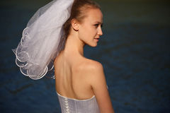 Brides profile Royalty Free Stock Images