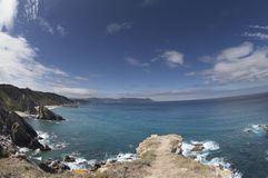 Stunning clifftops in galicia, spain Royalty Free Stock Photos