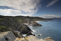 Stunning clifftops in galicia, spain Royalty Free Stock Photo