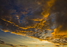 Stunning Cloud Formation. In Makassar Straits, Indonesia at sunset Stock Photography