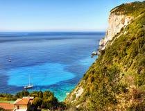 Greek Islands, Summer Holidays Paxos. Stunning coast and beaches on Greek Island - Paxos. Greece Summer Holidays. Europe stock photos
