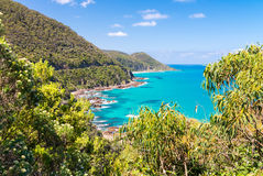 Stunning coast of Great Ocean Road, Australia Stock Images