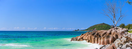 Stunning coast at Seychelles Royalty Free Stock Photos