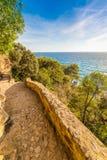 Stunning coastal trails (Caminos de ronda -Camins de Ronda)  - L Stock Image