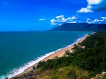 The stunning coastline of Cairns, Australia. Stunning coastline of Cairns, Australia Royalty Free Stock Photos