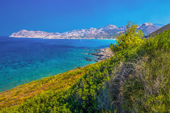 Stunning coastline view near Licciola on Corsica island Royalty Free Stock Photo