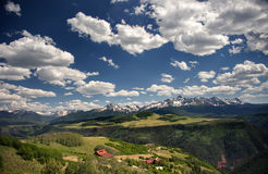 Stunning Colorado Mountainscape as Land and Sky Compete Royalty Free Stock Photography