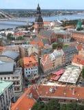 Stunning Colorful Architectures in Riga, Latvia. UNESCO World Heritage City Stock Image