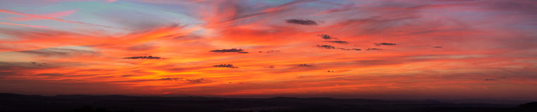 Stunning colors sky at sunset Stock Image