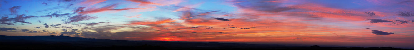 Stunning colors sky at sunset Royalty Free Stock Photos