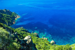 Stunning Corsica coastline in Girolata Bay, France Stock Images