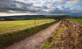 Stunning countryside landscape with dramatic sky Stock Photography