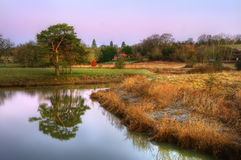 Stunning countryside landscape with river Stock Image