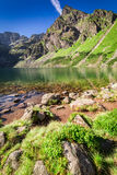 Stunning Czarny Staw Gasienicowy in Polish Mountains, Poland. Europe Stock Photography