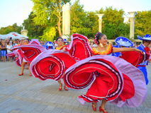 Stunning dancers. Mexican dancers dressed in stunning Stock Image