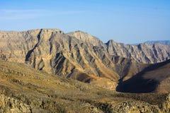 Stunning desert mountain scenery of Jabal Jais in the UAE. Stunning desert mountain scenery of Jabal Jais in the United Arab Emirates Royalty Free Stock Photography