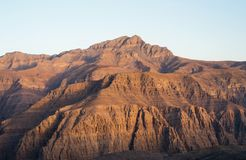 Stunning desert mountain scenery of Jabal Jais in the UAE. Stunning desert mountain scenery of Jabal Jais in the United Arab Emirates Royalty Free Stock Photo