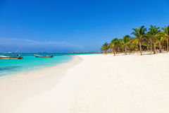 Stunning deserted tropical beach Stock Images